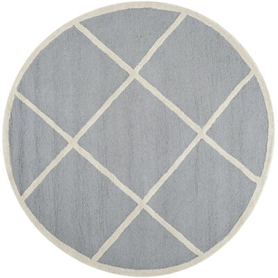 Martins Hand-Tufted Wool Gray/Ivory Area Rug Rug Size: Rectangle 8 x 10