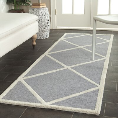 Martins Gray / Ivory Area Rug Rug Size: Runner 26 x 12