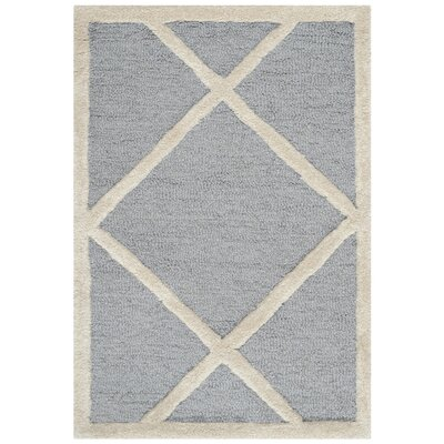 Martins Gray / Ivory Area Rug Rug Size: 3 x 5