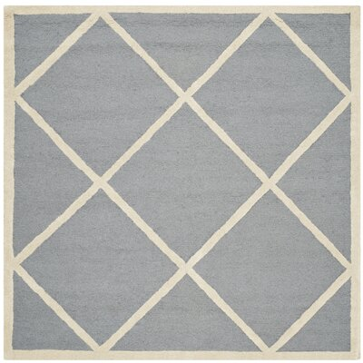 Martins Gray / Ivory Area Rug Rug Size: Square 4