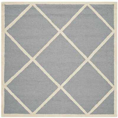 Martins Gray / Ivory Area Rug Rug Size: Square 8