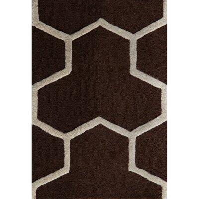 Martins Dark Brown/Ivory Area Rug Rug Size: 26 x 4