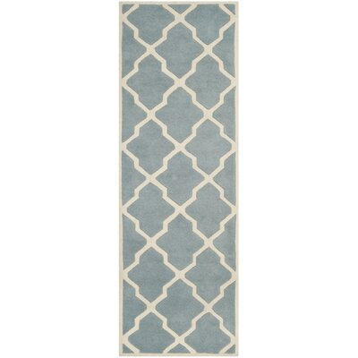 Wilkin Hand-Tufted Blue/Ivory Area Rug Rug Size: Runner 23 x 7