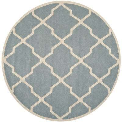Wilkin Hand-Tufted Blue/Ivory Area Rug Rug Size: Rectangle 89 x 12
