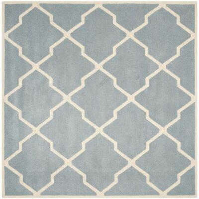 Wilkin Blue / Ivory Rug Rug Size: Square 4