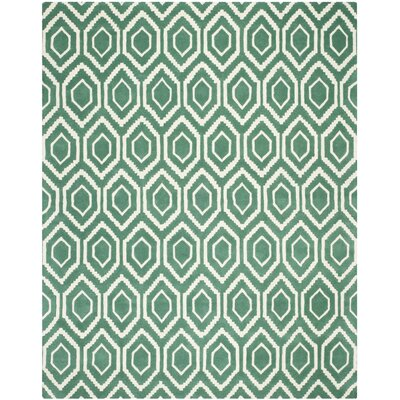Wilkin Teal / Ivory Rug Rug Size: Rectangle 8 x 10