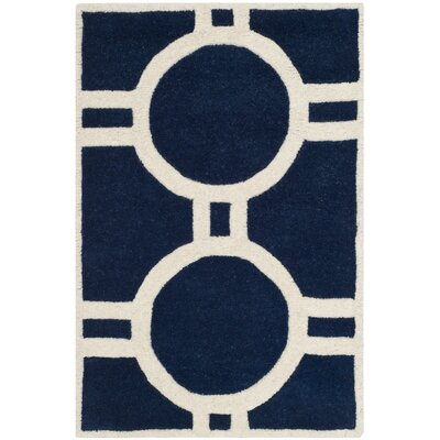 Wilkin Dark Blue / Ivory Rug Rug Size: Rectangle 2 x 3