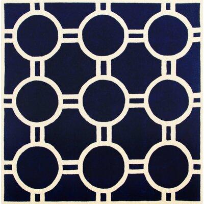 Wilkin Dark Blue / Ivory Rug Rug Size: Square 7