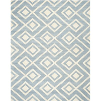 Wilkin Blue / Ivory Rug Rug Size: Rectangle 8 x 10