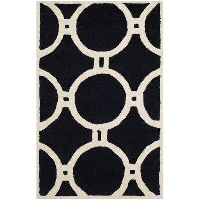 Martins Black/Ivory Area Rug Rug Size: Rectangle 26 x 4