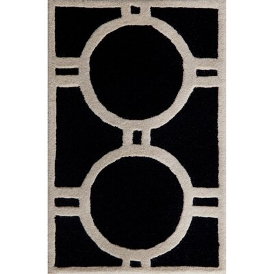 Martins Black/Ivory Area Rug Rug Size: 2 x 3