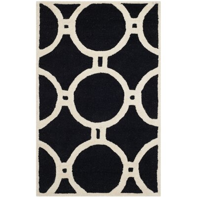 Martins Black/Ivory Area Rug Rug Size: 26 x 4