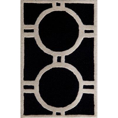 Martins Black/Ivory Area Rug Rug Size: 3 x 5