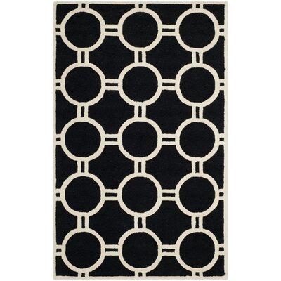 Martins Black/Ivory Area Rug Rug Size: 4 x 6