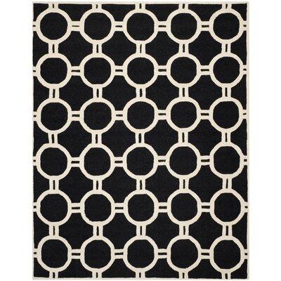 Martins Black/Ivory Area Rug Rug Size: 8 x 10