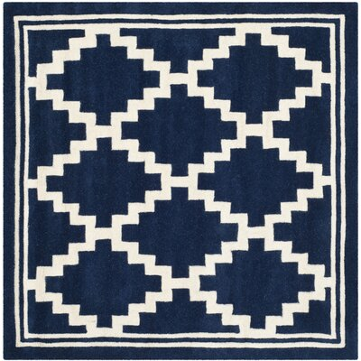 Wilkin Navy / Ivory Rug Rug Size: Square 5