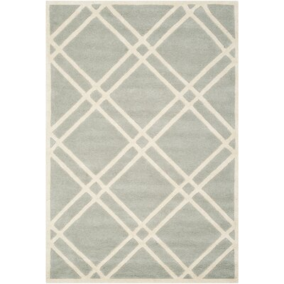 Wilkin Grey / Ivory Rug Rug Size: Rectangle 4' x 6'