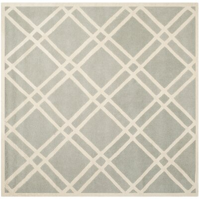Wilkin Grey / Ivory Rug Rug Size: Square 7'