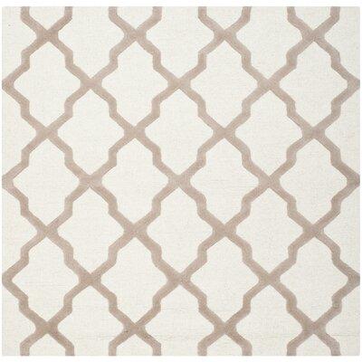 Charlenne Ivory & Beige Area Rug Rug Size: Square 8