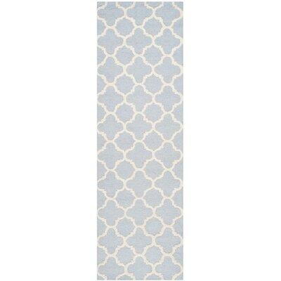 Martins Light Blue / Ivory Area Rug Rug Size: Runner 26 x 6