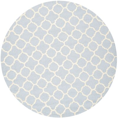 Martins Light Blue / Ivory Area Rug Rug Size: Runner 26 x 12