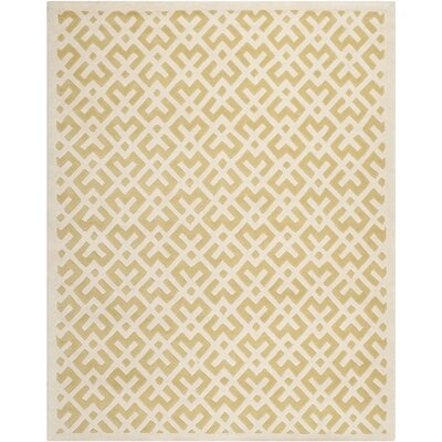 Wilkin Hand-Tufted Wool Light Gold Area Rug Rug Size: Rectangle 8 x 10
