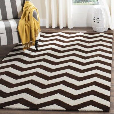 Wilkin Brown / Ivory Rug Rug Size: 4 x 6