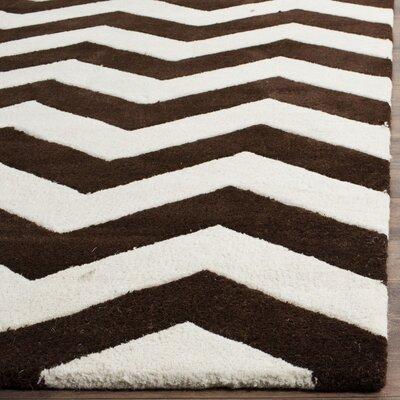 Wilkin Brown / Ivory Rug Rug Size: Square 5