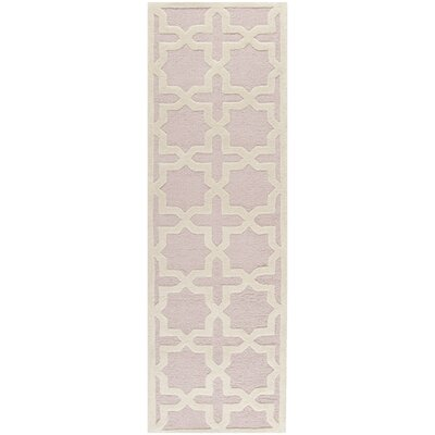 Martins Light Pink / Ivory Area Rug Rug Size: Runner 26 x 12