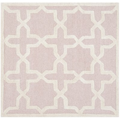 Martins Light Pink / Ivory Area Rug Rug Size: Square 4