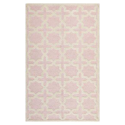 Martins Light Pink / Ivory Area Rug Rug Size: Runner 26 x 8
