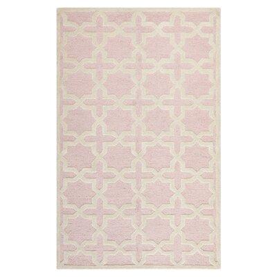 Martins Light Pink / Ivory Area Rug Rug Size: 5 x 8