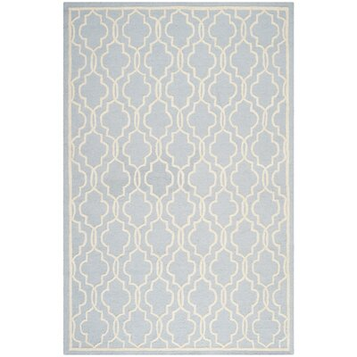 Martins Hand-Tufted Wool Light Blue/Ivory Area Rug Rug Size: Rectangle 8 x 10