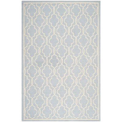 Martins Light Blue & Ivory Area Rug Rug Size: 12 x 18