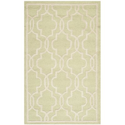 Martins Hand-Tufted Wool Light Green/Ivory Area Rug Rug Size: Rectangle 3 x 5