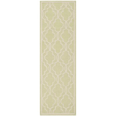 Martins Light Green & Ivory Area Rug I Rug Size: Runner 26 x 8