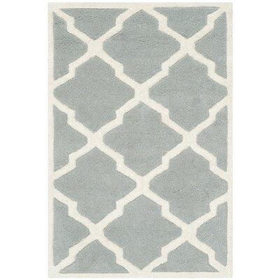 Wilkin Hand-Tufted Wool Gray/Ivory Area Rug Rug Size: Rectangle 2 x 3