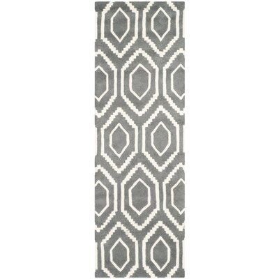 Wilkin Dark Gray Area Rug Rug Size: Runner 23 x 11