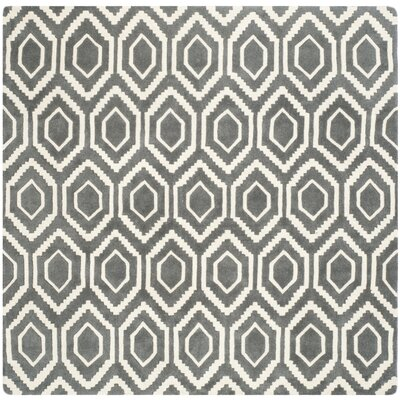 Wilkin Dark Gray Area Rug Rug Size: Square 7