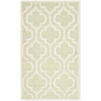 Martins Light Green/Ivory Area Rug II Rug Size: 4 x 6