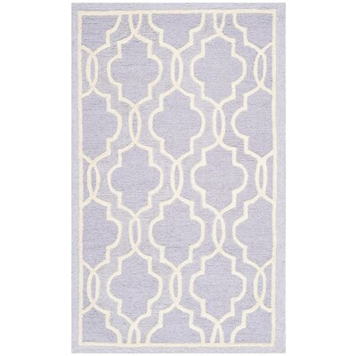 Martins Lavender / Ivory Area Rug Rug Size: Rectangle 26 x 4