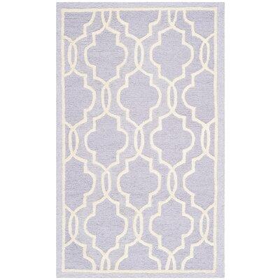 Martins Lavender / Ivory Area Rug Rug Size: 4' x 6'