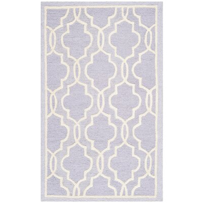 Martins Lavender / Ivory Area Rug Rug Size: 6 x 9