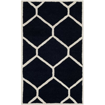 Martins Black Area Rug Rug Size: 3 x 5
