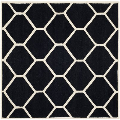 Martins Black Area Rug Rug Size: Square 6'