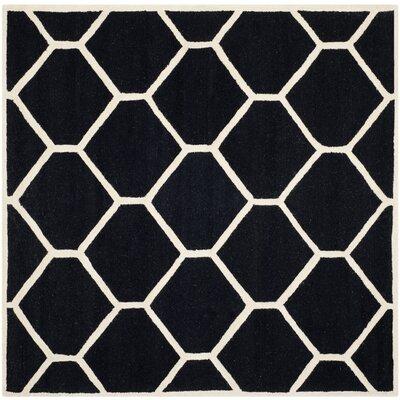 Martins Black Area Rug Rug Size: Square 8