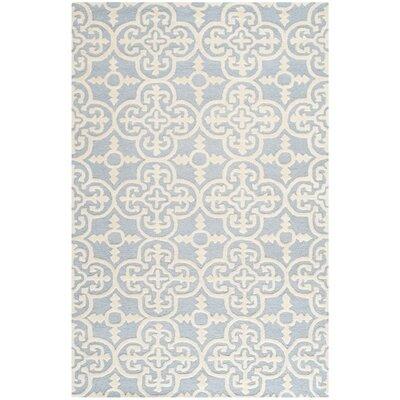 Martins Light Blue & Ivory Area Rug Rug Size: 6 x 9