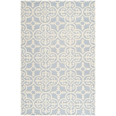 Martins Light Blue & Ivory Area Rug Rug Size: 9 x 12