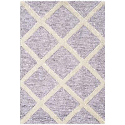 Martins Lavender / Ivory Area Rug Rug Size: 5 x 8