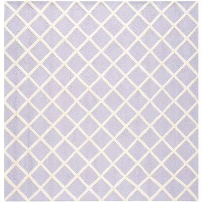 Martins Lavender / Ivory Area Rug Rug Size: Square 8
